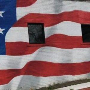 Veterans memorial mural
